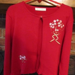 American Princess Girl's Embroidered Sweater
